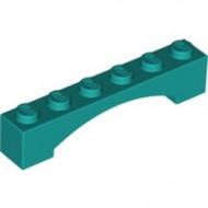 92950-39 Steen, boog 1x6x1 hoog VERHOOGDE BOOG turquoise, donker NIEUW *1L000