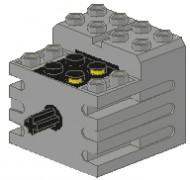 71427c01-9 Motor, Mini-motor 9 volt (ouder zwaarder nummer) PAST NIET DOOR BRIEVENBUS Grijs, licht (classic) NIEUW loc