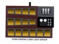 10144stk01 STICKER: STAR WARS Sand Crawler NIEUW loc