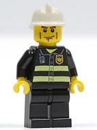 cty0043G Brandweer, reflectiestrepen, brandweerhelm, strepen op wang gebruikt *0M0000