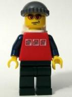 cty0066G Rood shirt met drie zilveren logo's, zwarte benen, zwarte armen gebruikt loc