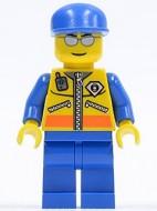 cty0089G Kustwacht- Patroller 3 Geel-blauw, zilveren bril, blauwe pet gebruikt loc