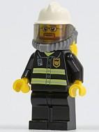 cty0165G Witte brandweerhelm, beademingsapparatuurm zwart pak met strepen gebruikt loc