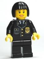 cty0211G Politie, vrouw met 'bob' kapsel, pak met blauwe das gebruikt *0M0000