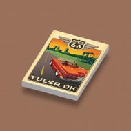 CUS1068 Route 66 Tulsa wit NIEUW loc Auto's