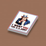 CUS1077 I WANT YOU for U.S. ARMY wit NIEUW