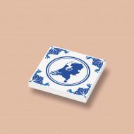 CUS3037 Tegel 2x2 Delfts Blauw - Landkaart wit NIEUW *0A000