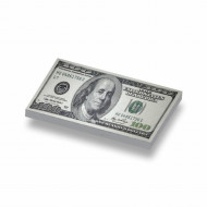 CUS7006 Tegel 1x2 Biljet 100 dollar geel *0A000