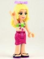 Friends- Isabella, magenta broek, lime bikini topje