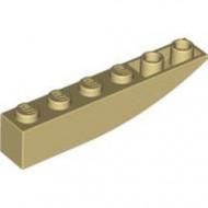 LEGO 42023-2G Omgekeerde dakpan 6x1 rond crème gebruikt *1L0004160405