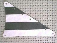 sailbb15-1G Zeil driehoek 15x22 zwarte strepen wit gebruikt *5D000