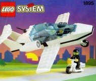 Set 1895 BOUWBESCHRIJVING- Sky Patrol gebruikt loc LOC M1