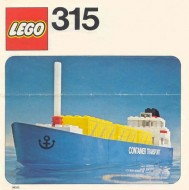 Set 315 BOUWBESCHRIJVING Containerschip (kraakjes) gebruikt loc LOC M1