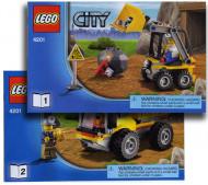 Set 4201 BOUWBESCHRIJVING- Loader and Dump Truck (2x) Auto gebruikt loc