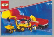Set 4543 BOUWBESCHRIJVING- Railroad Tractor Flatbed Treinen Auto gebruikt loc
