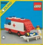 Set 6688 BOUWBESCHRIJVING- Ambulance Helikopter gebruikt loc LOC M3