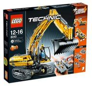 Set 8043 - Construction: Motorized Excavator- Nieuw