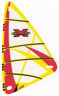 x772px5-12G Zeil 9x15 Rood Extreme Team Logo (plastic) transparant gebruikt *5D000
