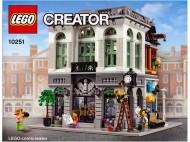 Set 10251 BOUWBESCHRIJVING- Brick Bank gebruikt loc