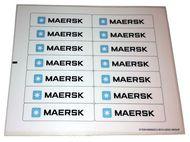 10155stk01 STICKER: Maersk schip NIEUW loc