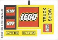 10156stk01 STICKER Lego truck NIEUW loc