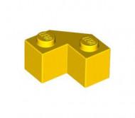 87620-3E EUROVOORDEEL: 10x Steen 2x2 facet geel NIEUW loc