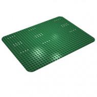 10px1-6G Basisplaat 24x32 sterk afgeronde hoek (classic) met witte stippen set 149 groen gebruikt *3K000