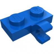 11476-7 Platte plaat 1x2 met horizontale clip LANGE einde blauw NIEUW *1L0000