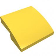 15068-3G Dakpan rond 2x2x2/3 geen noppen afgerond geel gebruikt *1L278
