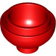 15395-5 Steen, 2x2x1 dome BODEM rood NIEUW *1L000