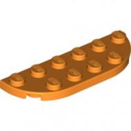 18980-4 Platte plaat 2x6 afgeronde hoeken oranje NIEUW *5D0000