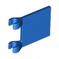 2335-7G Vlag 2x2 vierkant met twee clips blauw gebruikt *3D000
