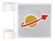 2335pb143-1 Vlag 2x2 Classic Space Patterns beide zijden wit gebruikt *