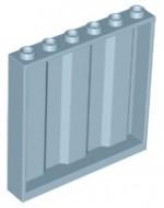 23405-85 Paneel 1x6x5 met planken (zijkanten) grijs, donker (blauwachtig) NIEUW *5D0000