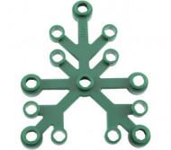 2417-80G Bladen 5x6 groen, donker gebruikt *5K000