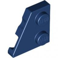 24299-63 Wig plaat 2x2 links blauw, donker NIEUW *1L221+2