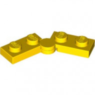 2429c01-3 Scharnierplaat 1x4 compleet (horizontaal 2 x 1x2) (loc 01-09) geel NIEUW *1L300