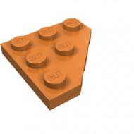 2450-150 Platte plaat 3x3 afgekapte hoek caramel, midden NIEUW *