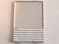 2494pb15-12G Glas for raam 1x4x5 met 6 witte strepen (sticker) transparant gebruikt *0B000