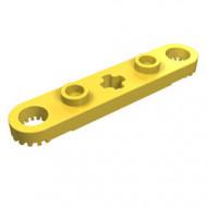 2711-3 Technic, Plaat 1x5 met gaten en centraal asgat geel NIEUW *0D012