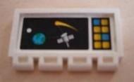 2873pb05-1G Klapdeurtje met scharnier Satelliet die om de aarde draait Wit gebruikt loc
