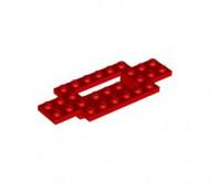30029-5G Bodemplaat 10x4x2/3 gladde onderkant rood gebruikt *3D0000