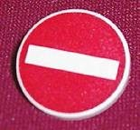 3026px4-1 Verkeersbord- Inrijverbod CLIP ON wit NIEUW loc