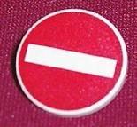 3026px4-1 Verkeersbord- Inrijverbod CLIP ON wit NIEUW *