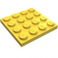 3031-3 Platte plaat 4x4 geel NIEUW *5K0000