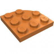 30357-150 Platte plaat 3x3 afgeronde hoek caramel, midden NIEUW *5G000