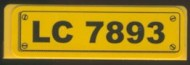 30413pb009-3G Paneel 1x4 LC 7893 geel gebruikt *0D0000