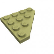 30503-155 Platte plaat 4x4 afgekapte hoek groen, olijf NIEUW *