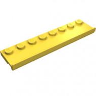 30586-3 Platte plaat 2x8 met deurrail (breed) geel NIEUW *1L291+7