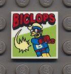 3068bpb0844-1 Tegel 2x2 Biclops Wit (NIEUW)